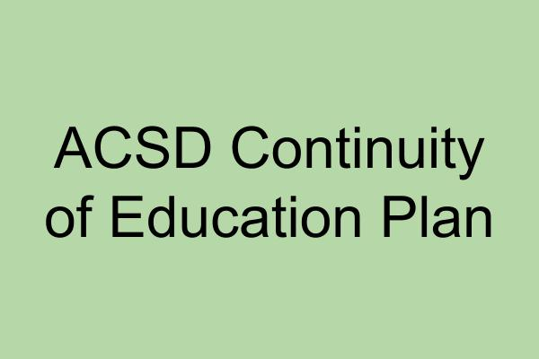 Continuity of Education Plan - Information for Families