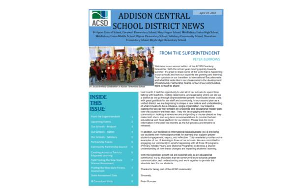 DISTRICT NEWSLETTER - 2nd Edition