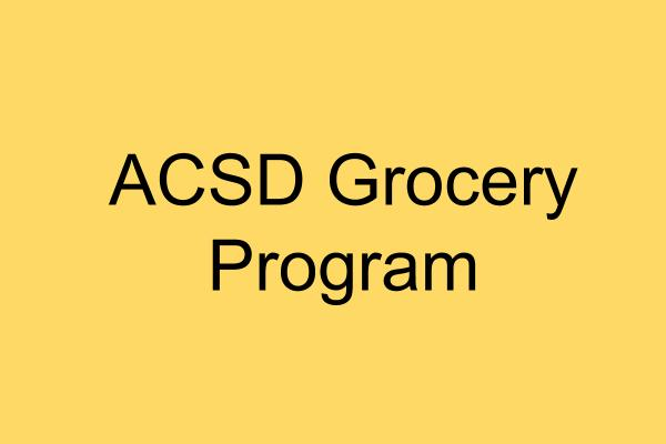 Grocery Program - Information and Sign Ups