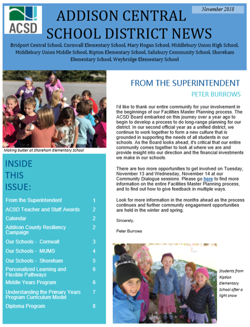 QUARTERLY DISTRICT NEWSLETTERS