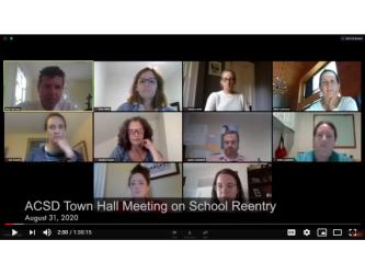 Recording of ACSD Town Hall Meeting on August 31st