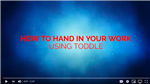 Hand in your work using Toddle